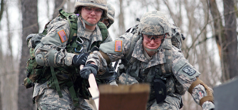 ROTC cadet training, all in a day'swork