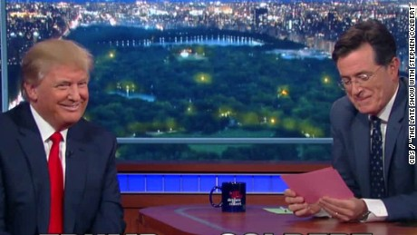 Trump thrives in debut appearance on Colbert's lateshow