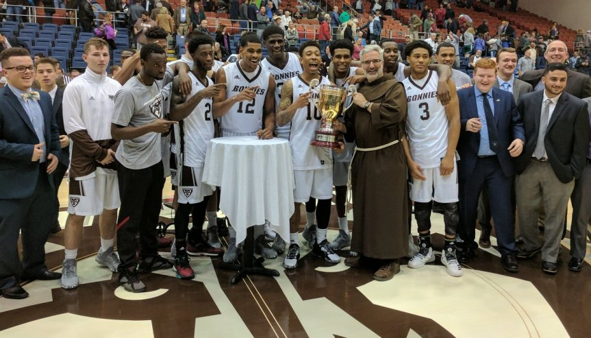 Men's basketball: Franciscan Cup returns to Bonaventure in 81-74victory