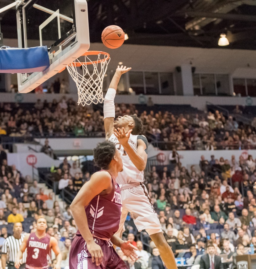 Bonnies hold off Fordham for second conferencewin