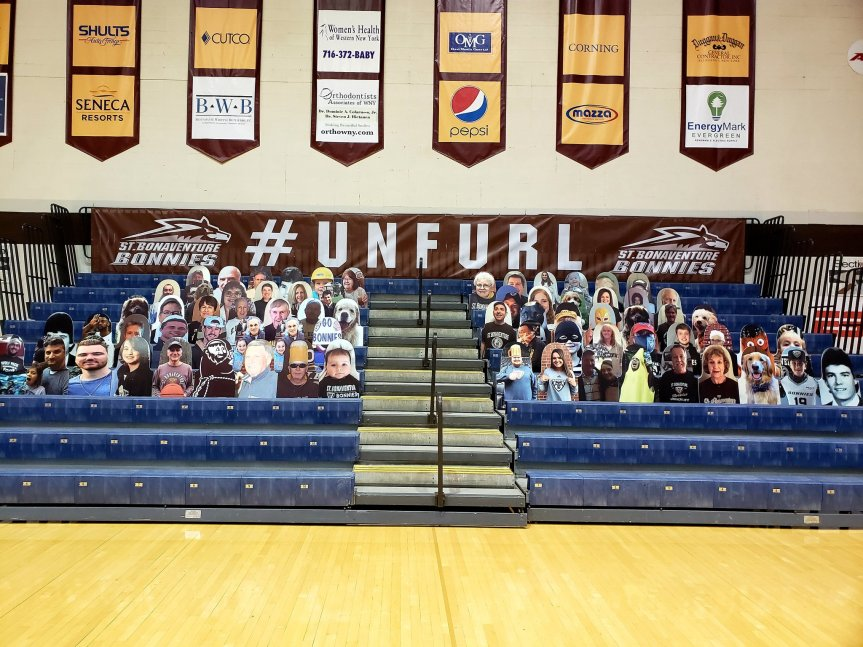 "Reilly Center to feature dozens of cardboard ""fans"" this season"